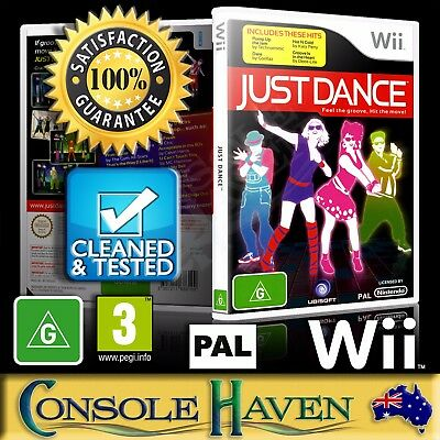 (Wii Game) Just Dance (G) (Music & Dance) PAL, Guaranteed, Cleaned, Tested