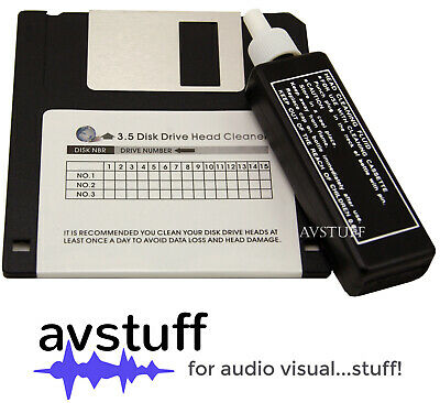 "Floppy Disk Disc Drive Wet Head Cleaner All 3.5"" Drives Pc Amiga Atari Apple Mac"