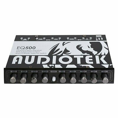 Audiotek At Eq500 Car Audio 5 Band Graphic Equalizer With Sub Out Put