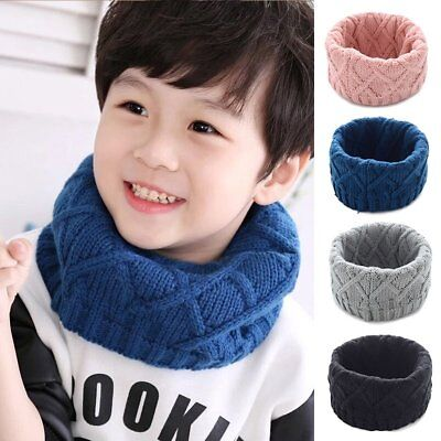 Toddler Kids Baby Winter Warm Scarf Thick O Ring Scarves Collar Neck Scarf Wraps
