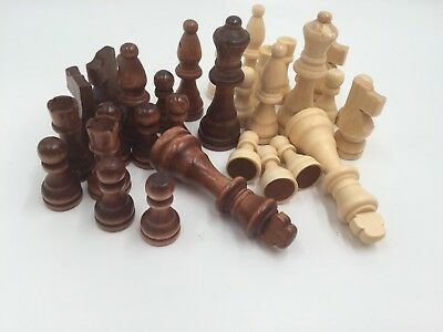 Sale New Chess Set Of 32 Wooden Parts Pieces king size 3.5 Inch 100% authentic