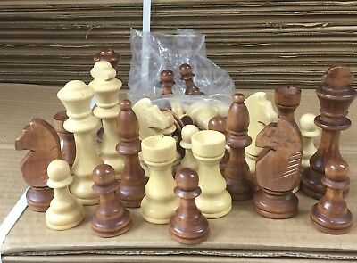 Sale New Chess  Set Of 32 Wooden Parts,Pieces  king size 7.5cm 100% authentic