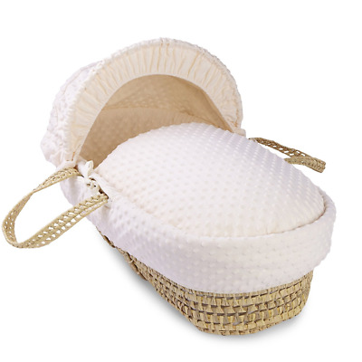 Dimple Palm Moses Basket - Cream