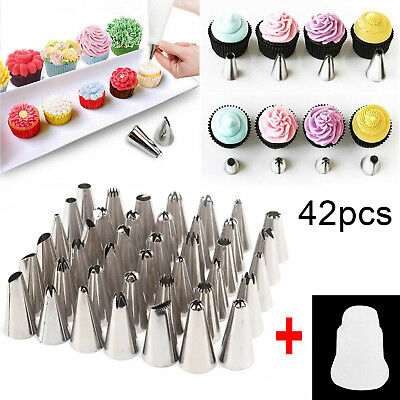 42Pcs Russian Flower Icing Piping Nozzles Cake Decorating Tips Pastry Tool Set