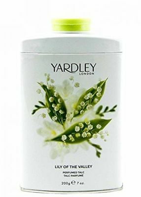 REFRESHING Yardley Of London Lily-Of-The-Valley Perfumed Talc 7 Oz /200 g Tin