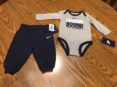 Nike 2 Piece Baby Sweat Pants & Long Sleeve Tee Size 3/6 Months - NWT