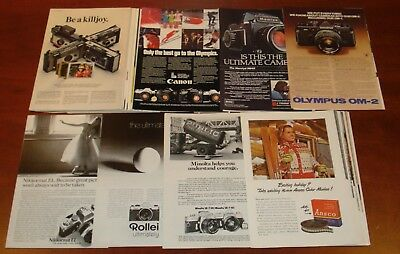 Huge-Lot of 191 Vintage Ads Camera/Minolta/Polaroid/Canon etc. 40's to 70's
