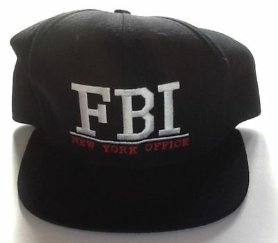 FBI New York Office Baseball Cap Embroidered   CLASSIC Buckle Leather Strap