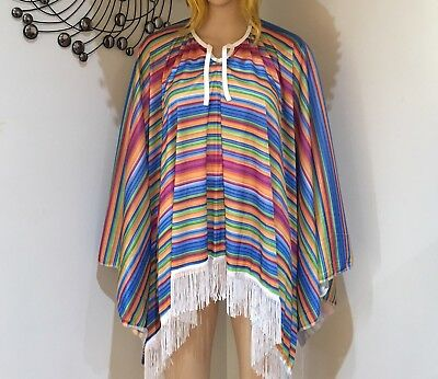 MEXICAN PONCHO Spanish Costume Wild West Cowboy Party Bandit Fiesta
