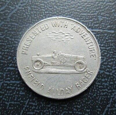 c 1920's Adventure Comic Token, Robert Roxburgh, Newcastle, Enfield Allday Racer