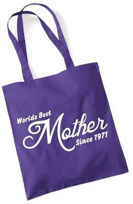 49th Birthday Gift Prezzi Tote Shopping Cotton Bag Worlds Best Mother Since 1971