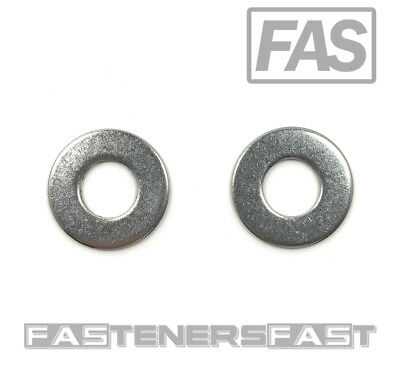 "(100) 3/8"" Stainless Steel Flat Washer (100 PCS) Fast Free Shipping"