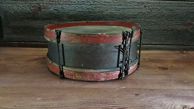 Antique Brass and Wood Snare Drum  - Rare -  Great Condition