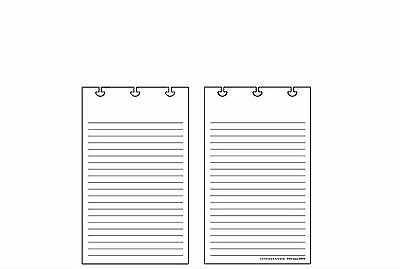 Levenger Jotlet Refill Full-Page Ruled Cards (50)  (ADS4785)