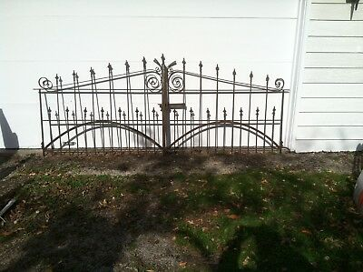 Antique Wrought Iron Fence with 2 Gates. 216 feet. Over 100 years old.