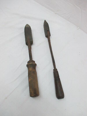 Pair of COPPER SOLDERING IRONS - HAND FORGED-VINTAGE HAND TOOLS