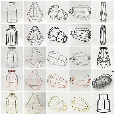 Vintage Industrial Metal Wire Light Cages for Desk & Pendant Lamps Lighting