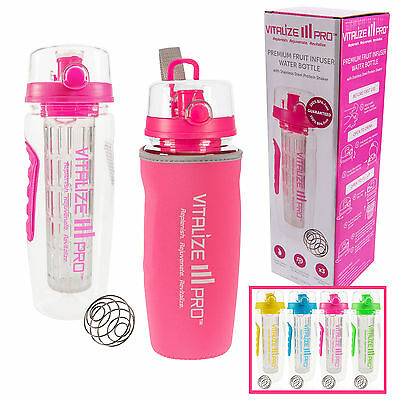 Fruit Infuser Water Bottle with Extra-Long Infuser 950ml BPA-Free
