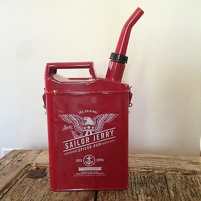NEW Sailor Jerry Spiced Rum, Red Metal Gas Can Drink Canister, Decanter. 72oz