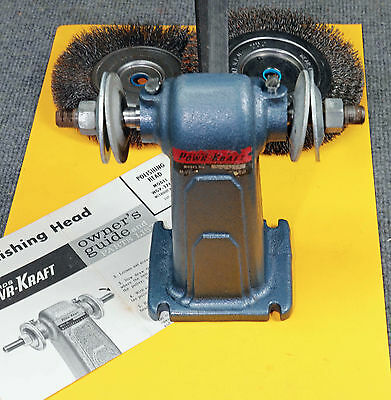 Buffing Head Model WGV-2765A with wire wheels, belt, owners guide & parts list