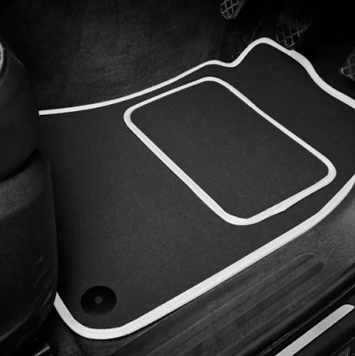 High Quality Car Floor Mats Set In Black/White To Fit Renault Megane CC (02-10)
