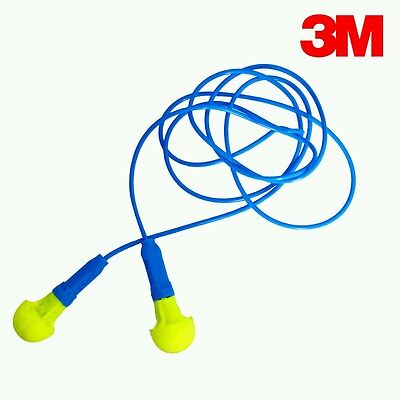 3M Push-Ins Corded Earplugs for Hearing Protection ( Lot of 15 Pairs )