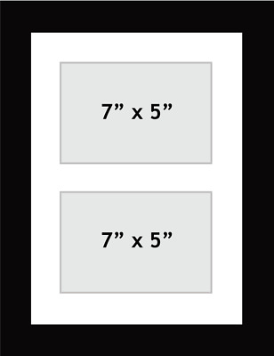 NEW MULTI APERTURE PICTURE PHOTO FRAME FITS 2 7\