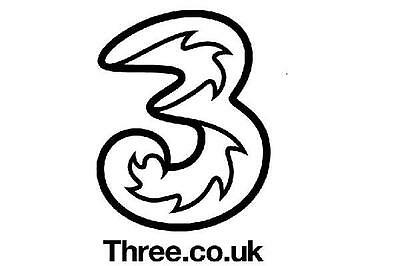 Three (3) UK SIM card - ideal for your UK or EU travel