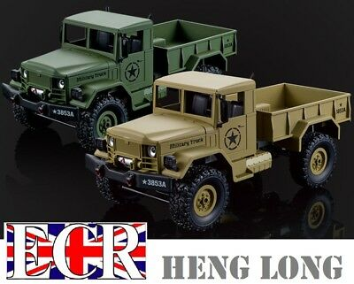 Heng Long 1:16 Scale Rc 4X4 Military Army Truck Henglong Fwd Tank Desert Vehicle