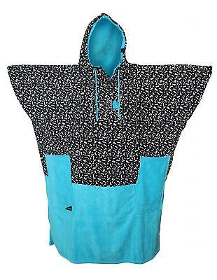 Poncho All In Bumpy Print Turquoise