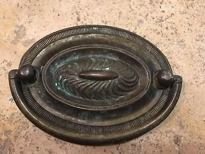 """Duncan Phyfe Brass Antique Hardware Oval Drawer Pull 2 1/2"""" x 3 1/2"""""""