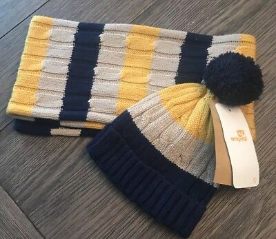 Mayoral boys scarf and hat set blue size 1 NWT