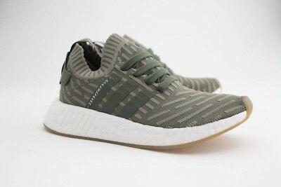 8c8199a75 ADIDAS ORIGINALS WOMEN S NMD R2 Primeknit in Olive Pink BY9953 BNIB ...