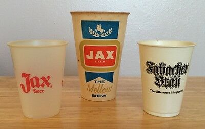 JAX/Fabacher Beer~Vintage Group of 3 Diff. Cups-2 Diff. Sizes