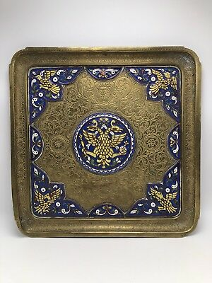 19th Century Russian Empire Antique Bronze Tray