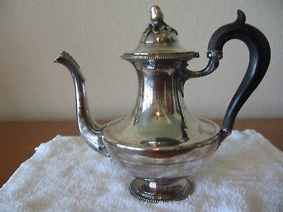 Antique French Christofle teapot.  Silver plate.