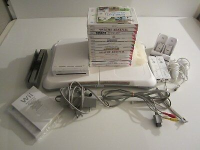 Lot Console Nintendo Wii 15 Jeux 2 Wiimote Balance Board / Pack Special Famille