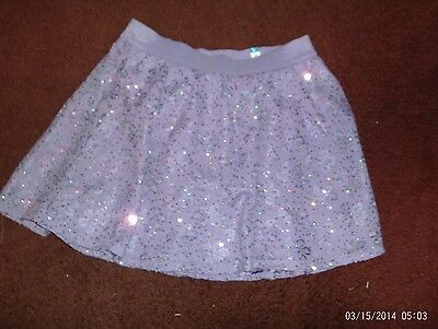 justice-- girls size 16 lavender sequined lace skirt--nwt