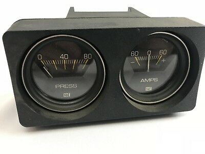 Nos Stewart-Warner Two Gauge Housing (Ammeter-Mech.press) 286-B (Ga-73)