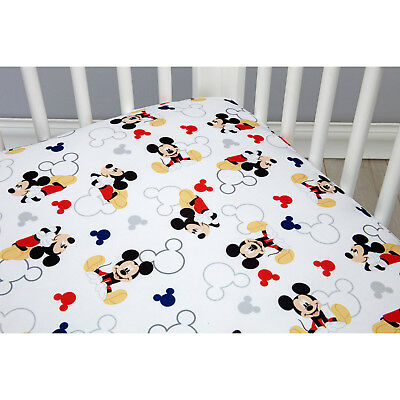 Disney Let's Go Mickey II- Baby Fitted Crib Sheet