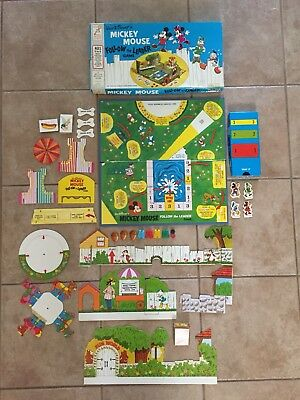 Vintage 1971 Board Game - Mickey Mouse Follow The Leader Game - 100% complete