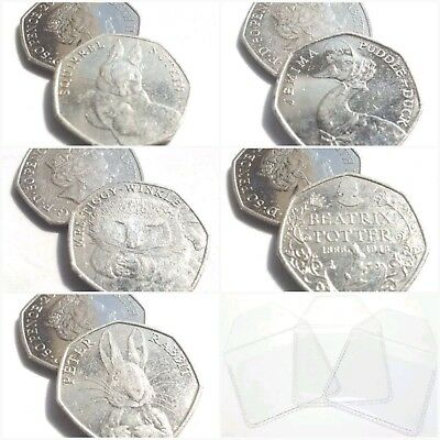 2017 BU Beatrix Potter Peter Rabbit/Tom Kitten/Sir Isaac Fifty Pence 50p Coins