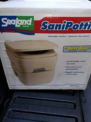 Sealand Dometic Sanipottie Portable Toilet model 966 5 gal New RV Boat Camping