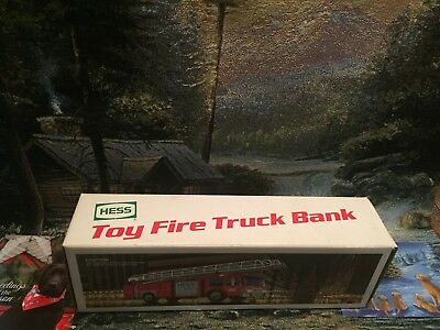 1986 Hess Toy FireTruck  Bank w/Original Box,NEW Mint