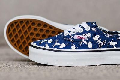 Vans Authentic Peanuts Snoopy / Skating Navy White Mens Womens Shoes Size 4-12