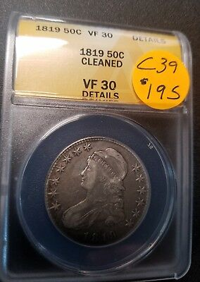 1819 VF30 Certified Capped Bust Half Dollar C39