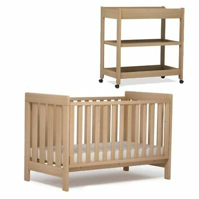 Boori Urbane Daintree 2pc Cot Bed & Changer Change Table Package Almond