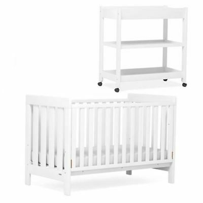 Boori Urbane Daintree 2pc Nursery Package Cot Bed & Change Table White
