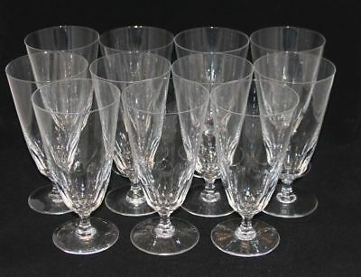 11 Val St. Lambert France Riviera Clear Crystal 7-1/8 Inch Iced Tea Goblets