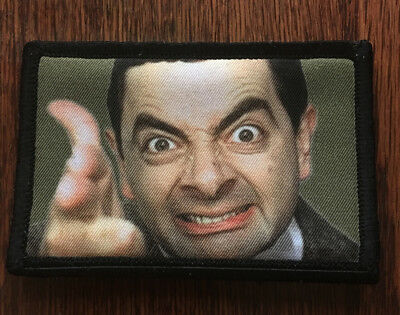 Mr BEAN Morale Patch Funny Tactical Military Army Badge Hook Flag USA